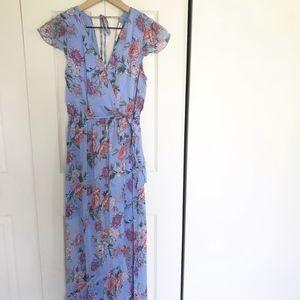 Floral Wrap Maxi Dress Sz Small